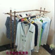 北京路金服装架玫瑰金双杠衣架图片