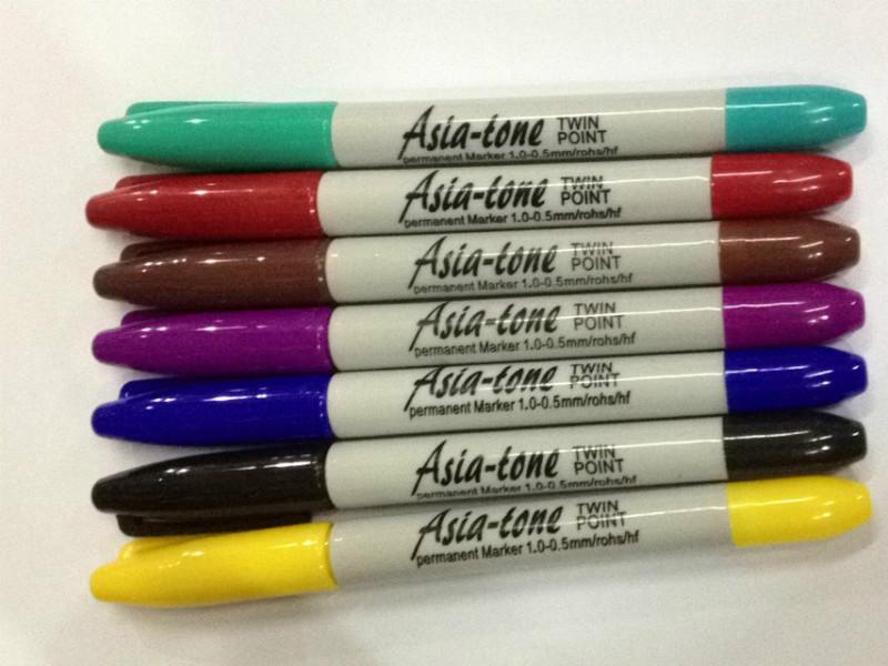 耐酸碱记号笔小双头耐酸碱油性笔