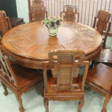 供应红木家具餐厅餐桌椅组合圆桌9件套