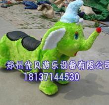 供应儿童游乐电动毛绒动物玩具车图片