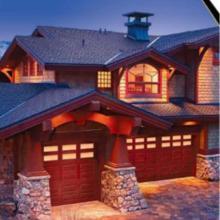 供应可能是你看到最好的车库门,玻璃钢饰面实木原装美国进口车库门图片