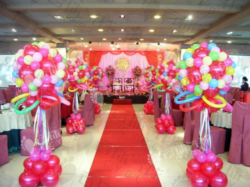 供应寿宴气球装饰/寿星气球/仙鹤气球/寿星仙鹤气球编法/造型气球