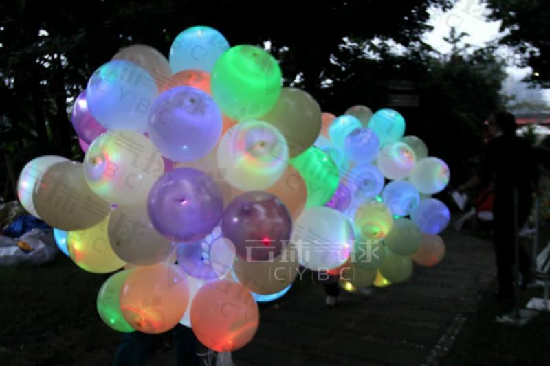 供应花瓣球波点夜光球