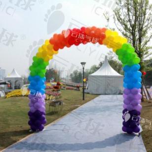 彩虹气球/成都气球装饰/彩虹拱门图片