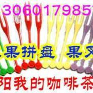 西餐酒吧水果拼盘果蔬沙拉专用果签图片
