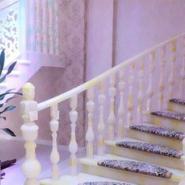 宾馆酒店别墅人造石楼梯扶手图片