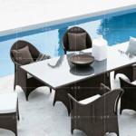 家庭客厅阳台桌椅组合藤编户外家具报价