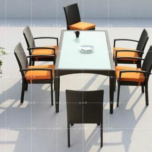 佛山藤编桌椅图片