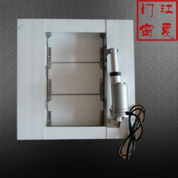 供应大型建筑电动平板百叶窗图片