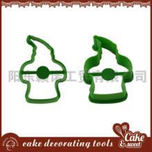 供应圣诞姜饼人塑料饼模厂家直销报价/长期库存供应批发