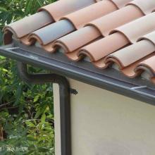 供应彩铝落水系统、彩铝檐槽天沟、彩铝方管雨水斗图片