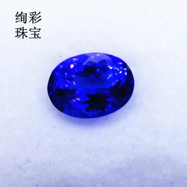 供应天然坦桑石2.27克拉椭圆形坦桑石批发QQ:2501326982