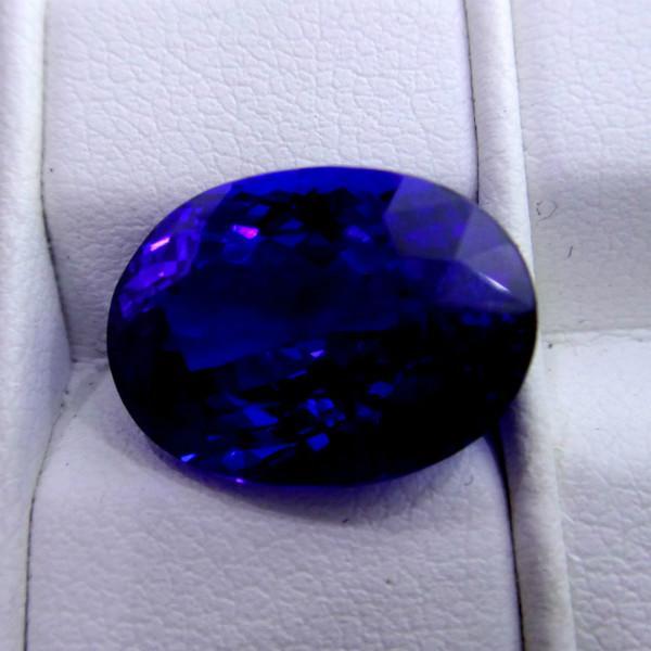 供应顶级坦桑石椭圆形裸石镶嵌戴妃款戒指