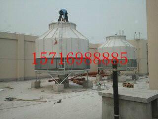 供应圆形逆流式玻璃钢冷却塔图片