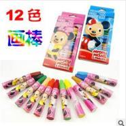 快易供应幼儿园小学生最爱的12色软蜡笔