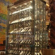 供应不锈钢红酒酒柜 不锈钢洋酒酒架 商场不锈钢酒架