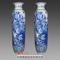 景德镇陶瓷落地大花瓶现代客厅摆件