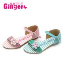 2014Ginger宝石人字夹脚小坡跟松糕公主凉童鞋一件批发厂家直批发