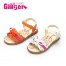 2014Ginger童鞋批发厂家直销松糕小坡跟搭扣公主凉鞋一件待发批发