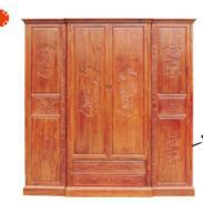 东阳鲁创红木家具卧室大衣柜图片