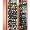 玫瑰金两开门顶置压缩机红酒柜图片