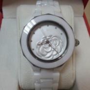 50222013新款香家山茶花陶瓷手表图片
