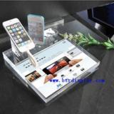 供应压克力手机展示架 亚克力苹果手机展示架 有机玻璃手机座