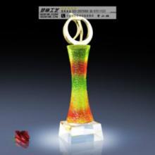 广州高档水晶琉璃奖杯订购,高档琉璃奖杯图片