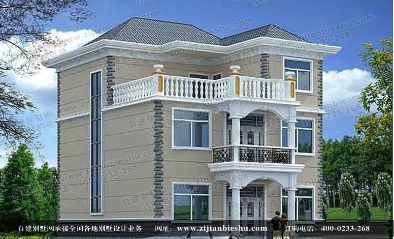 三层农村别墅设计图自建别墅效果图价格|批发|报价