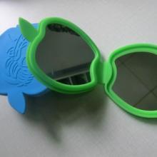 供应化妆镜口袋镜化妆镜 口袋镜 硅胶折叠双面镜子 美容镜子 时尚新款批发