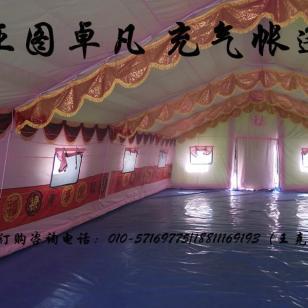 陕西酒店宴席充气帐篷图片