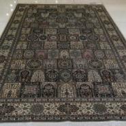 欧式现代简约手工编织打结真丝地毯图片