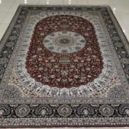 欧式华丽高贵手工编织打结真丝地毯图片
