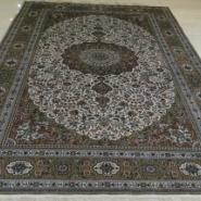 简约现代新古典纯手工真丝地毯图片