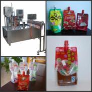 江西果汁果粒自立袋灌装机图片