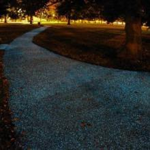 供应人行道斑马线荧光涂料道路标线荧光玻璃珠图片