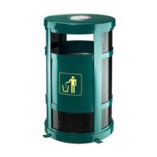 供应环保垃圾桶选择麦穗户外金属垃圾桶圆形户外垃圾桶果皮桶图片