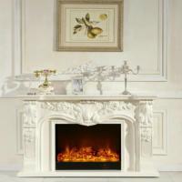 供应T267象牙白壁炉伏羲壁炉别墅壁炉欧式客厅壁炉效果图