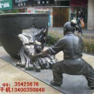 铜雕塑司马光砸缸图片