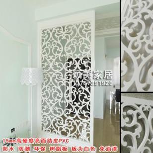 PVC雕花板/镂空板/隔断背景墙屏风图片