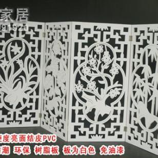 J50雕花板/PVC镂空板/折屏隔断图片