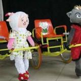 供应机器人拉车摇摇车喜羊羊小熊拉车销售