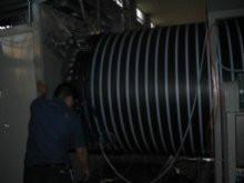 供應中空壁大口徑纏繞管生產線,PE大口徑排污管設備,塑料檢查井生產機器青島樂力友機械圖片