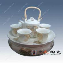 供应青花茶具套装批发景德镇茶具工厂百花齐放手绘茶具套装