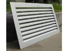 供应新风换气边墙防雨百叶窗 定制各种规格风口图片