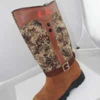过膝靴高筒棉靴纯羊毛超保暖蒙靴