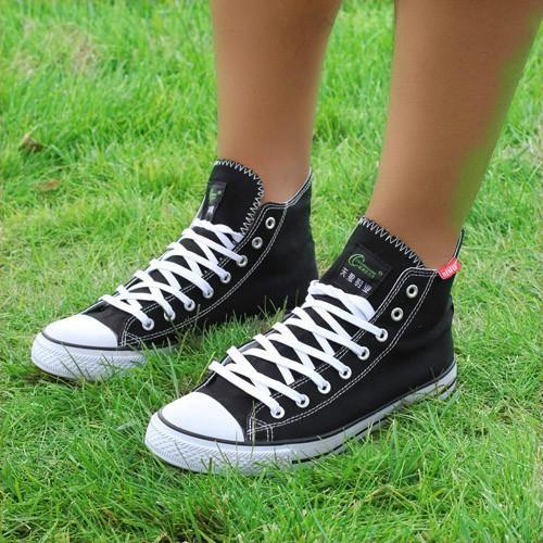 供应直销帆布平底小白鞋女休闲孕妇鞋
