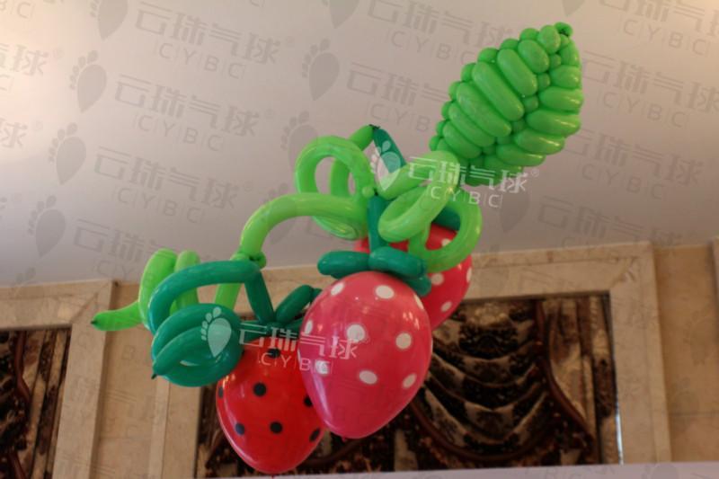 供应草莓节气球/草莓气球/水果气球造型/成都气球造型装饰策划布置