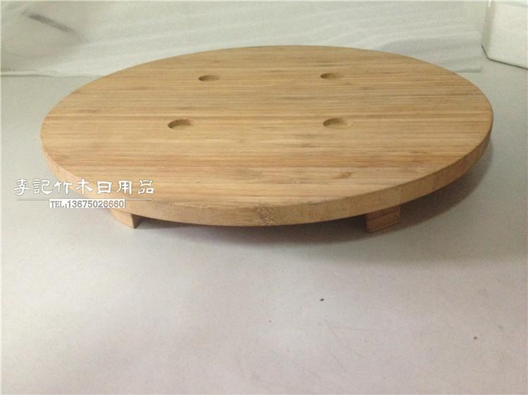 牛排竹垫碳化竹圆板铁板烧垫竹垫板销售