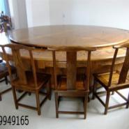 榆木圆桌图片